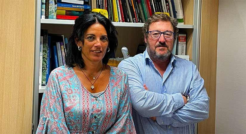 Nora Goitia y Antonio Seco, responsables del programa Marketplaces de Cámarabilbao.